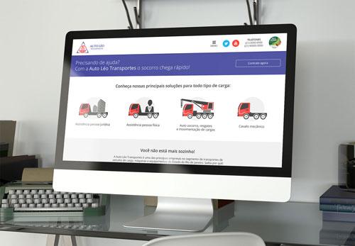 Auto Léo Transportes - Criação de site