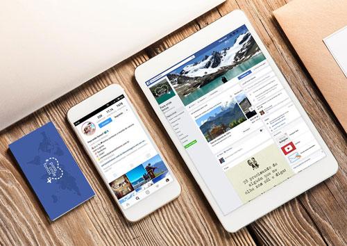 Para Onde Fomos - Gerenciamento de redes sociais, criação de logo e cartão de visitas
