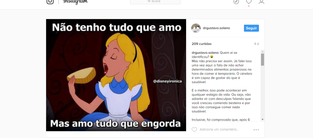 Marketing no instagram com memes