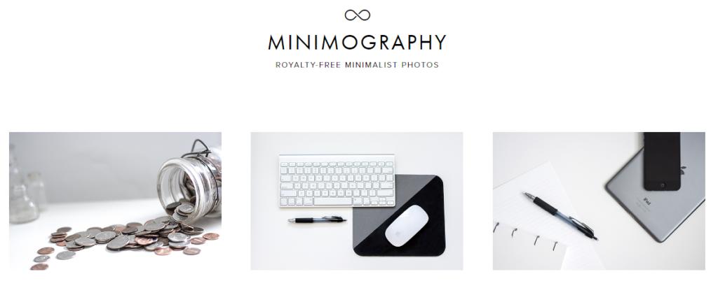 Bancos de imagens gratuitos minimography